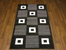 Modern Approx 5x3 80x150cm Woven Backed Black/ White Sale Quality Squares